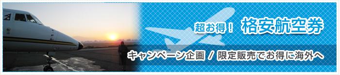 超お得!格安航空券 キャンペーン企画/限定販売でお得に海外へ